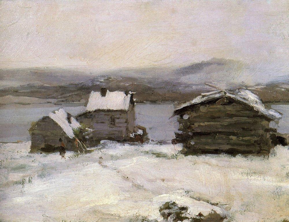Константин Коровин. Зима в Лапландии