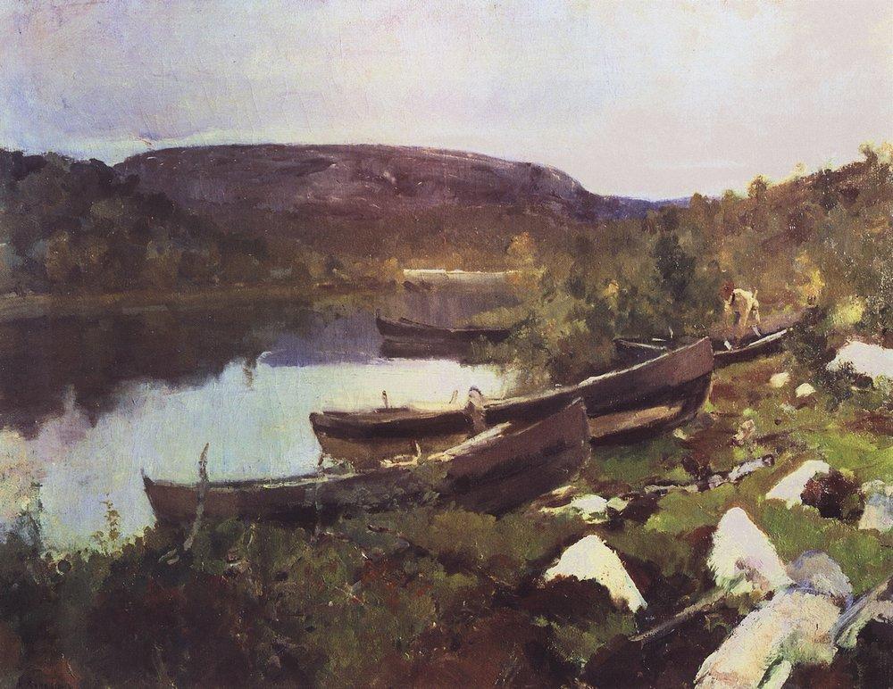 Степан Писахов. Ручей святого Трифана в Печенге